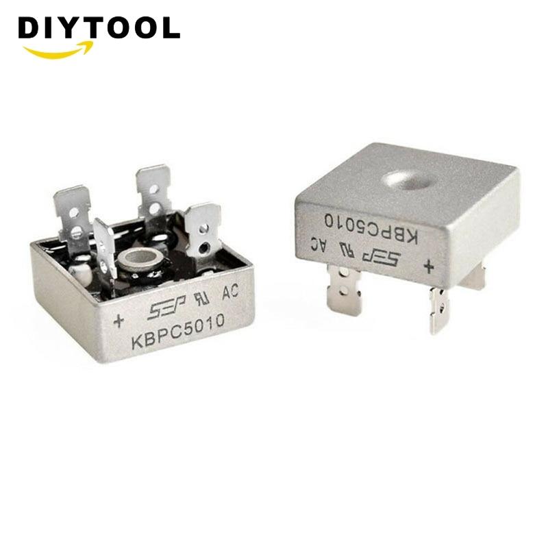 Kbpc5010 1000 volts ponte retificador 50 amp 50a caixa de metal 1000 v ponte do diodo