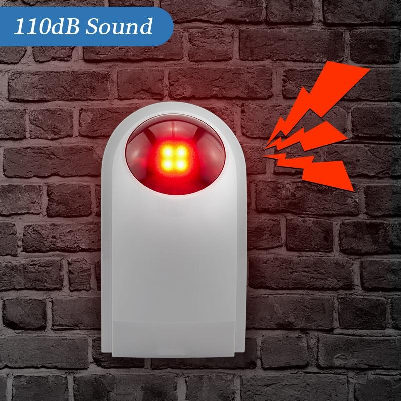 Wireless Outdoor Waterproof Flash Siren Sound Strobe Flash Alarm Siren For Wifi G90B G90E Home Security Alarm System недорого