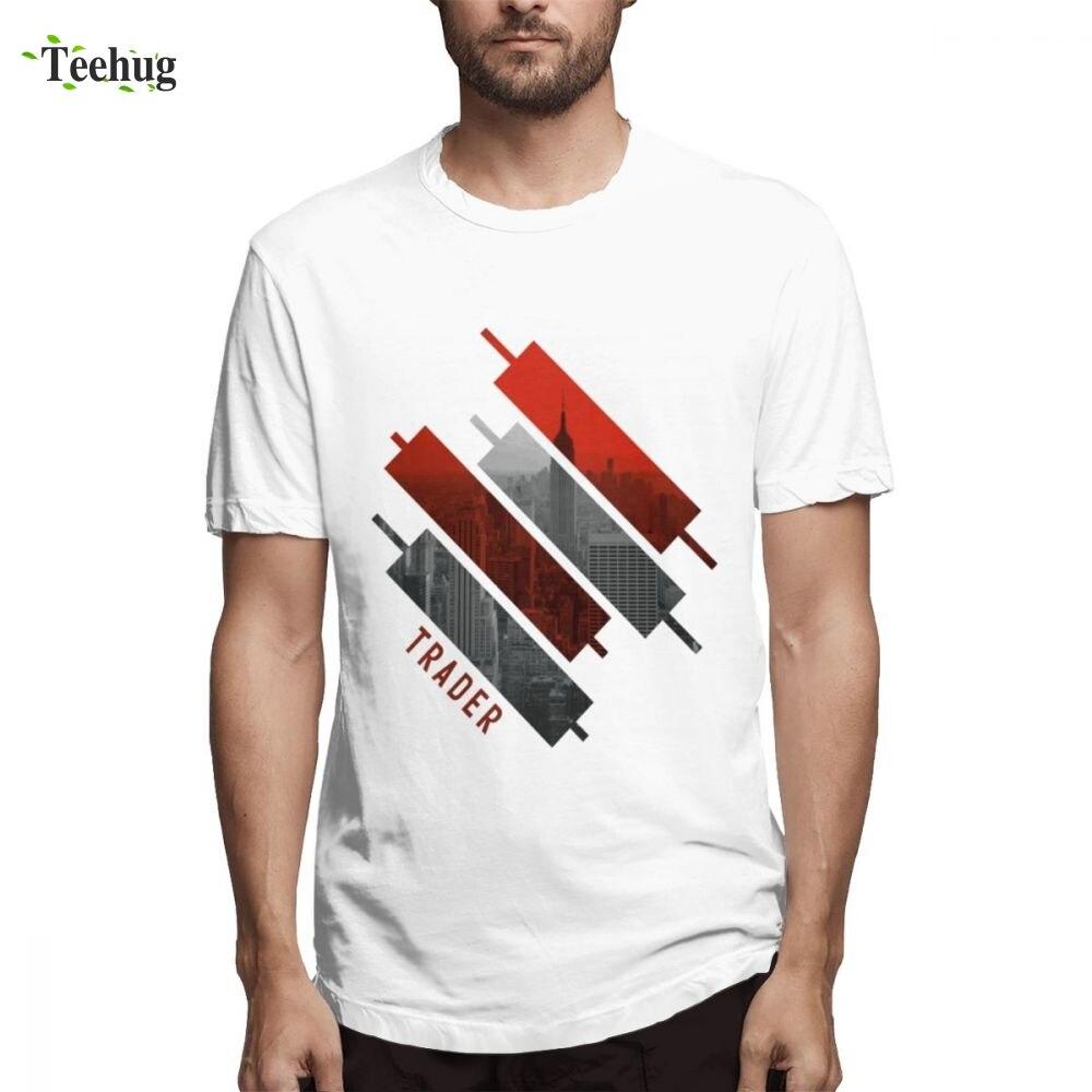 Винтажный Мужской дневный трейдер Forex подсвечник футболка Забавный Топ Дизайн Круглый вырез для мужчин Camiseta