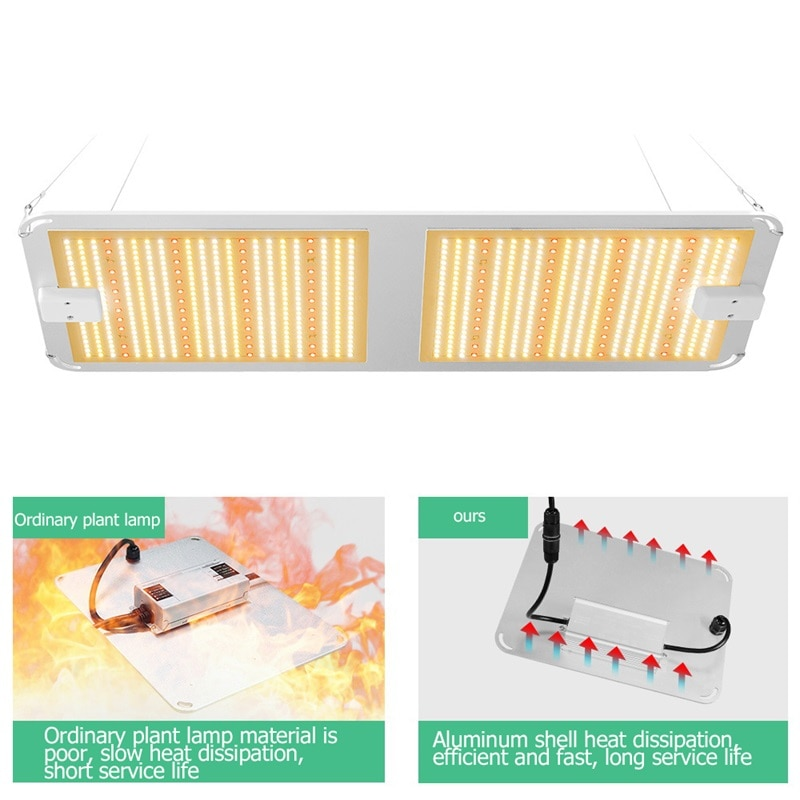 BRIGHT LED Grow Lights Plant Growth Lamp Quantum Board 400W Waterproof IP66 Full Spectrum For Succulent Greenhouse Plant enlarge