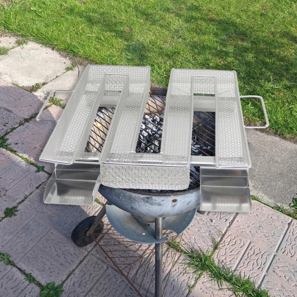 Корзина для коптильни, экологически чистая термостойкая решетка из нержавеющей стали для барбекю, генератора дыма, инструменты для барбекю...