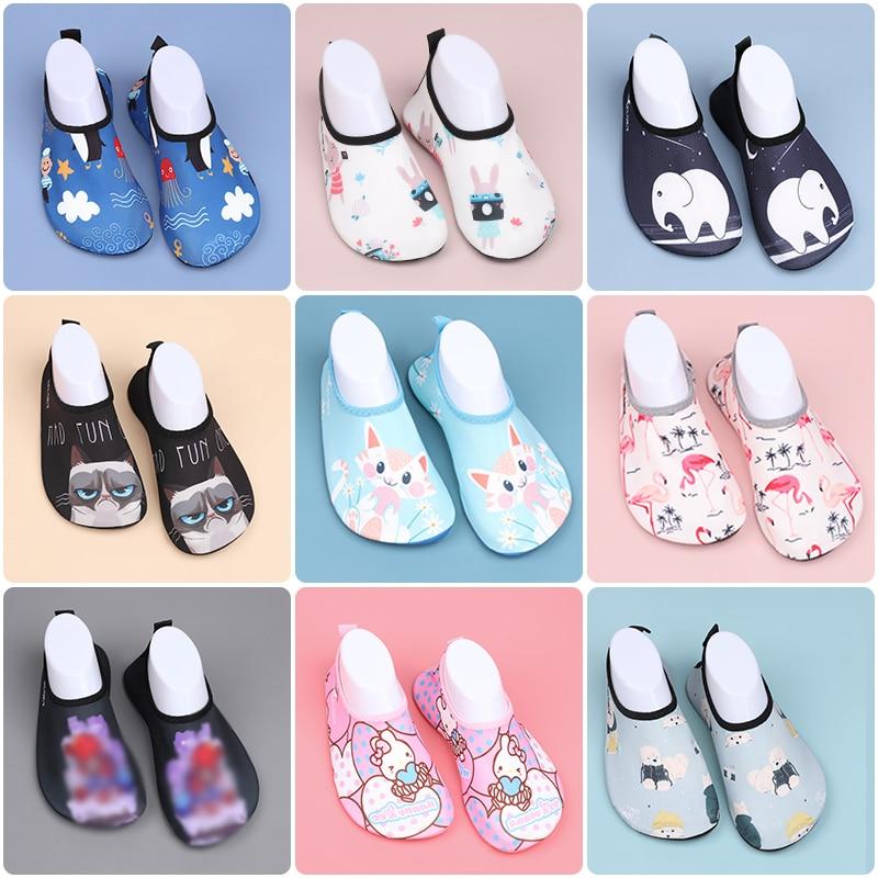 Verano niños agua zapatos niñas niños niño secado rápido antideslizante calcetines de agua para playa al aire libre deportes bebé dibujos animados zapatos