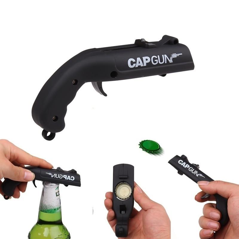 Creative Portable Beer Opener Cap Gun Bottle Opener Beer Bottles Open Capgun Drink Opening Shooter Bar Outdoor Celebration Tools