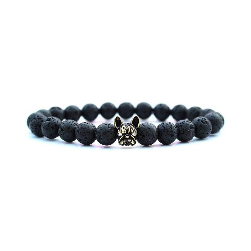 Dog Head pulseras hombre 2020 Man bracalete Beaded Men bracelet natural stone beads bracelets for women jewellery bileklik
