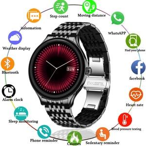 LIGE Smart Watch Men Waterproof Fitness Tracker 9.0mm ultra-thin body Heart Rate Blood Pressure SmartWatch Men For IOS Android