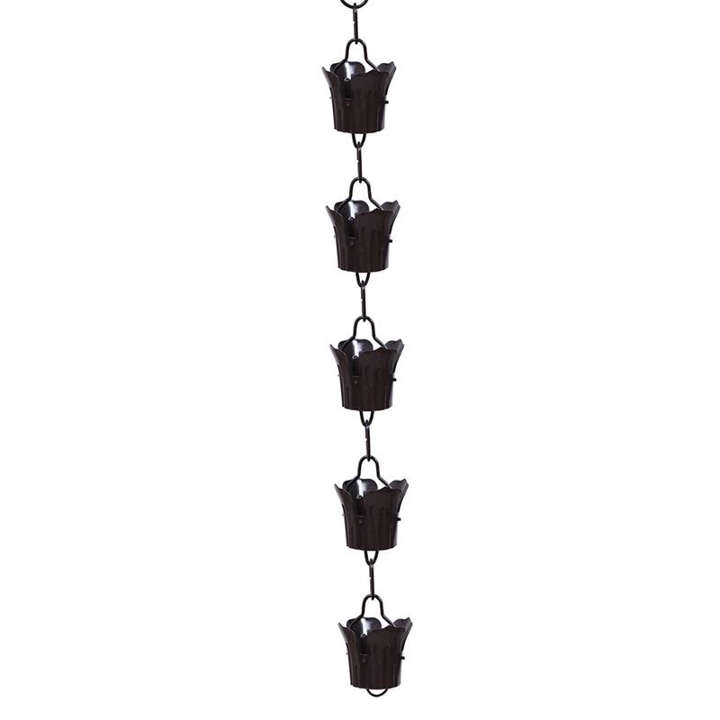1pc Rain Chain Decorative Delicate Drainage Rain Chain Villa Roof Gutter Winter Drainage Chain for Temples