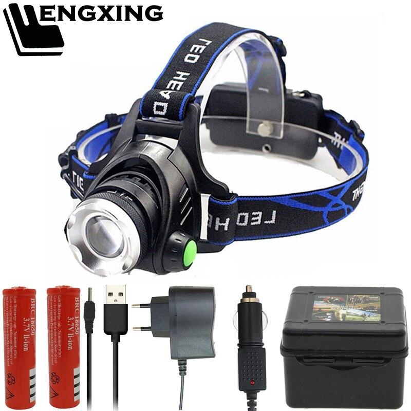 FX-DZ30 головной светильник V6 T6 L2, светодиодный налобный фонарь с зумом, ламсветильник-вспышка, аккумулятор 18650 лм, перезаряжаемый передсветиль...