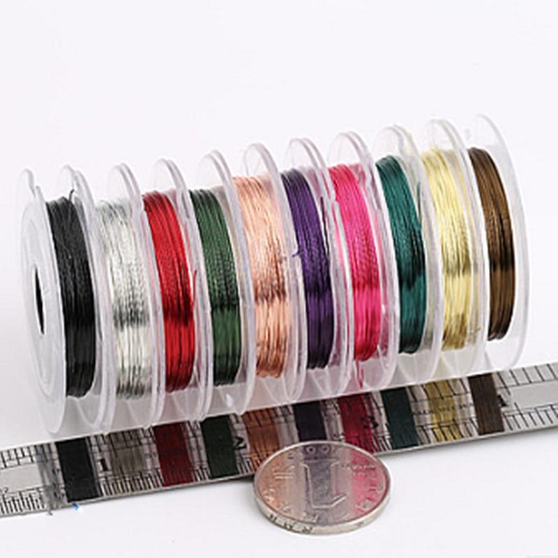 Аксессуары-для-украшений-«сделай-сам»-проволока-из-цветного-металла-Складная-линия-для-браслета-ожерелья-из-бисера-1000-см-03-мм-1-шт