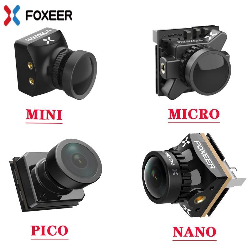 Foxeer Razer Mini / Razer Micro/ Razer NA:NO 1200TVL PAL/NTSC 4:3/16:9, كاميرا صغيرة بدون طيار قابلة للتبديل FPV ، كاميرا متعددة المحركات