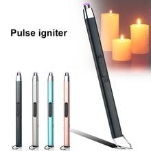BBQ esterno USB elettrico ricaricabile cucina lunga stufa a Gas accendino antivento Plasma arco accendini senza fiamma interfaccia di tipo C