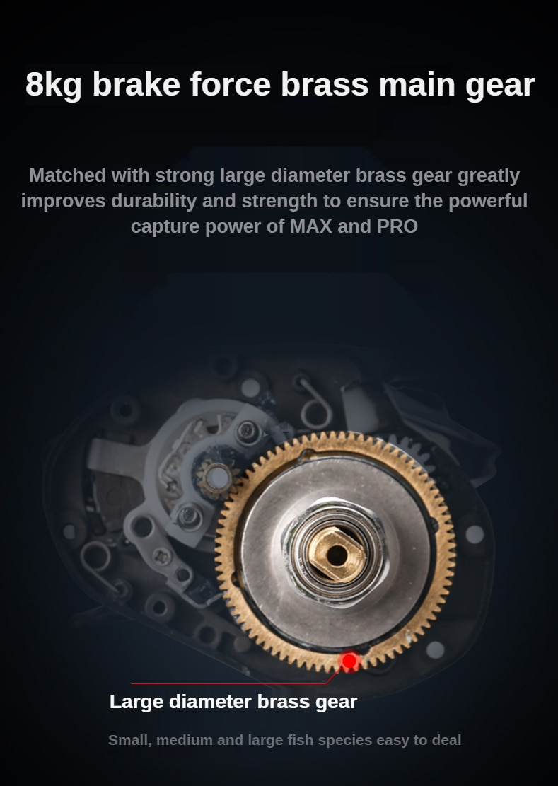PURELURE All-metal ultra-light water drop wheel unloading force alarm fishing reel enlarge