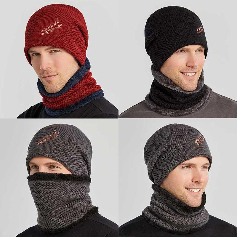Новая зимняя шапка для мужчин, вязаная шапка для мужчин, сохраняющая тепло, высококачественные хлопковые шапки, шапка, повседневные Шапки