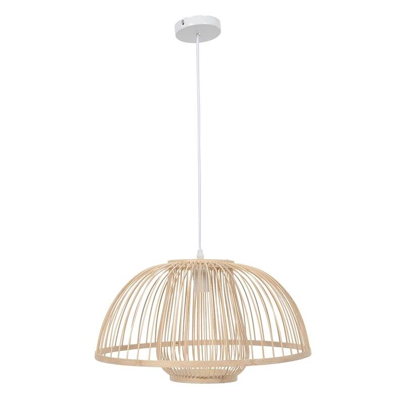 Lámpara colgante de bambú iluminación jardín Lámpara colgante de restaurante Hotel granja Teahouse linterna Tatami bambú lámpara colgante (sin