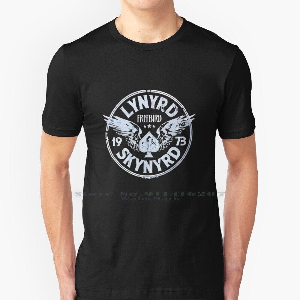 Pájaro libre-Lynyrd Logo T camisa 100% de algodón puro Logo de musica...