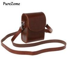 Camera Bag PU Leather Protective Case with Shoulder Strap for Canon G9X SX700 SX170 S90 S110 S120 G7X G7Xii for Sony HX60/HX50