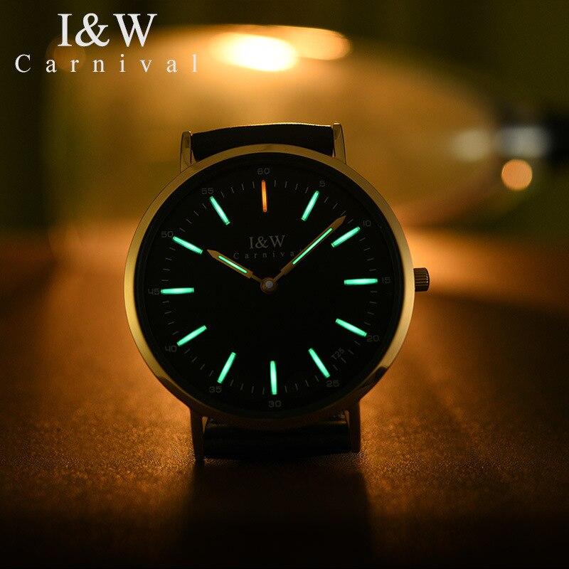 Relogio Feminino Carnival Brand Women Watches Ladies Fashion Luxury Tritium T25 Luminous Ultra Thin Casual Quartz Wristwatches enlarge