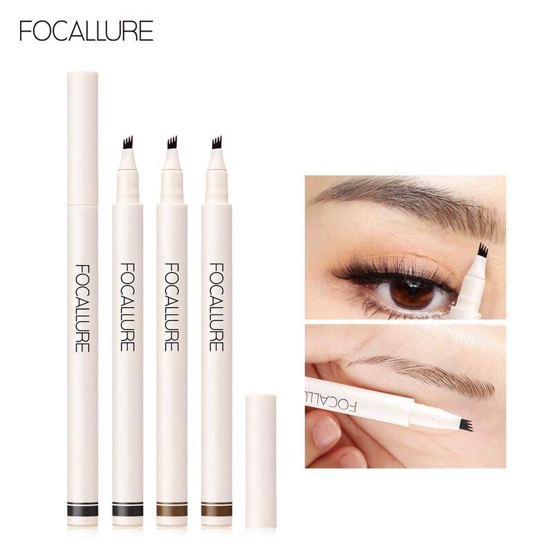 FOCALLURE Liquid Waterproof Long-Lasting Natural 4 Prong Eyebrow Pencil