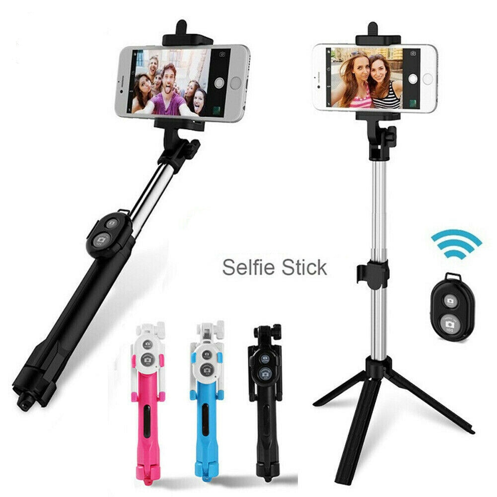 Wireless Selfie Stick Vlog Extendable with Bluetooth Remote Tripod Mount Phonr Holder For Youtube iPhone Huwwei Xiaomi Samsung