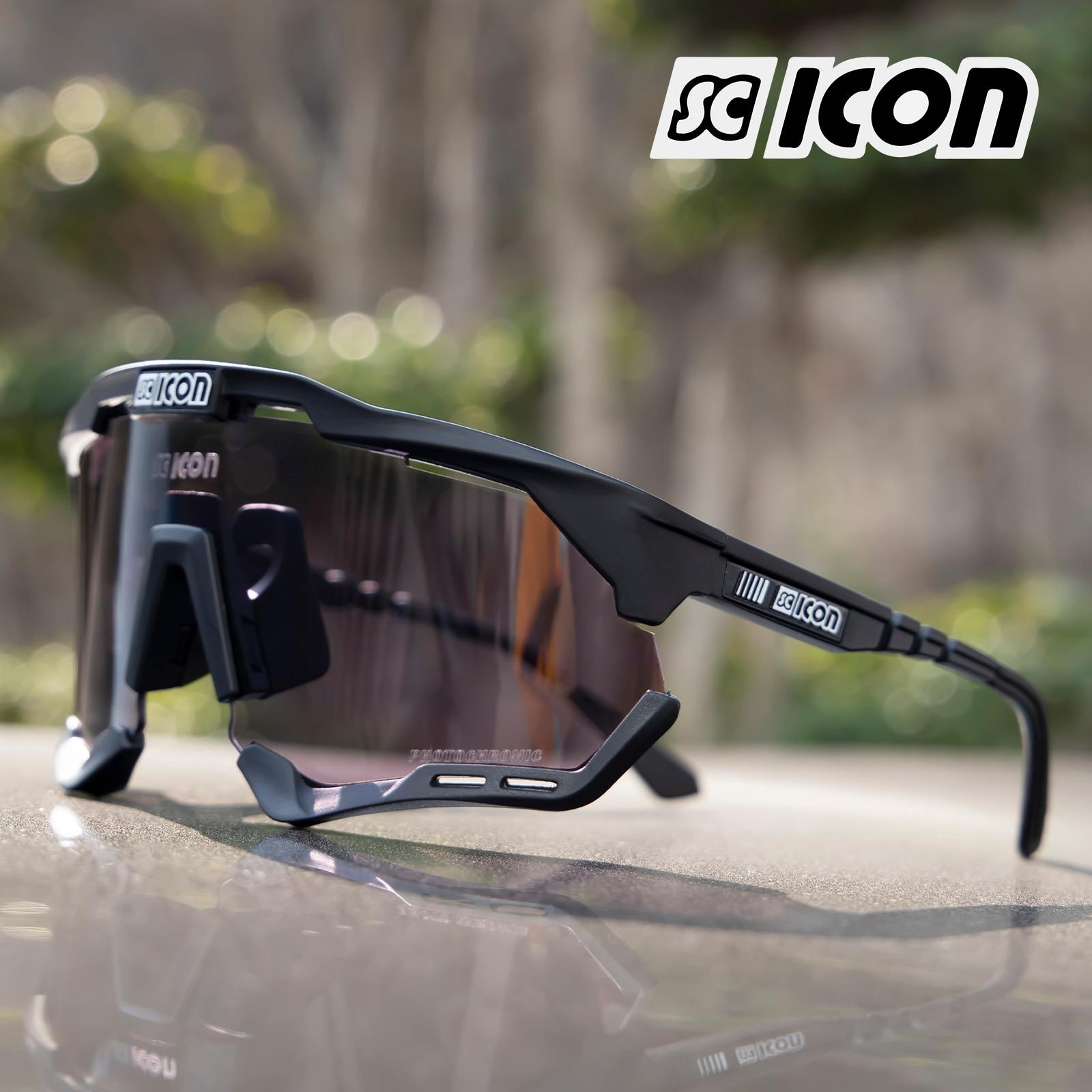 SCICON Photochromic Cycling Sunglasses 남자 여자 Mtb 스포츠 UV400 옥외 고글 자전거 산 달리기 자전거 안경 Eyewear