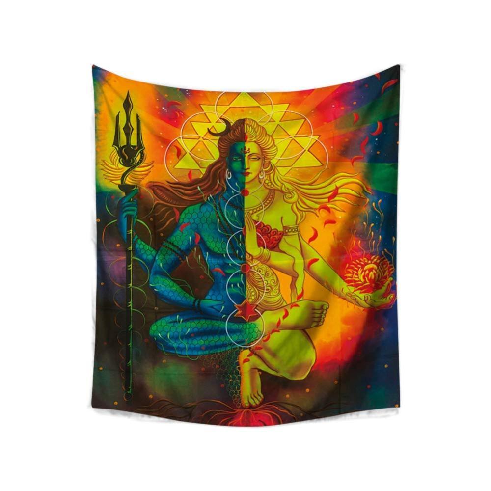 Sacred Meditation 7 Chakra Relax Tapestry Hippie Mandala Print Wall Carpet Lotus Buddha Boho Bedroom Large Decor Wall Blanket
