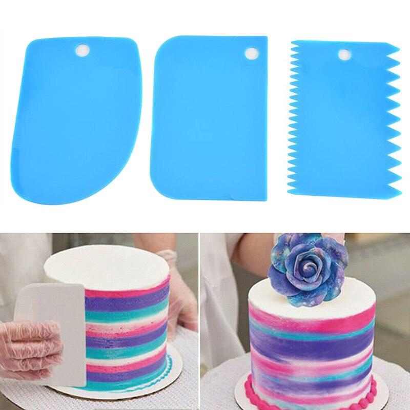 DIY pastel hornear 3 unids/set pastel crema espátula de mezcla espátula espátulas Fondant Pastrys cortadores herramientas de cocina DC120
