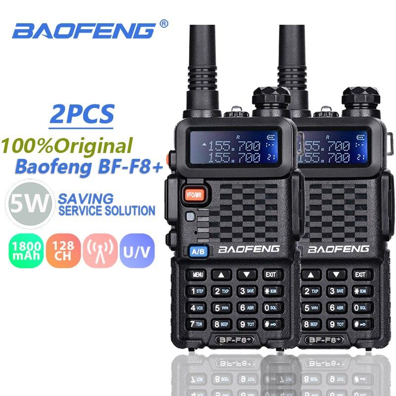 2PCS Baofeng BF-F8+ Walkie Talkie Dual Band Vhf&Uhf SMA-F Two Way Radio BF F8+ F8 Comunicador Ham CB Radio Range Hf Transceiver