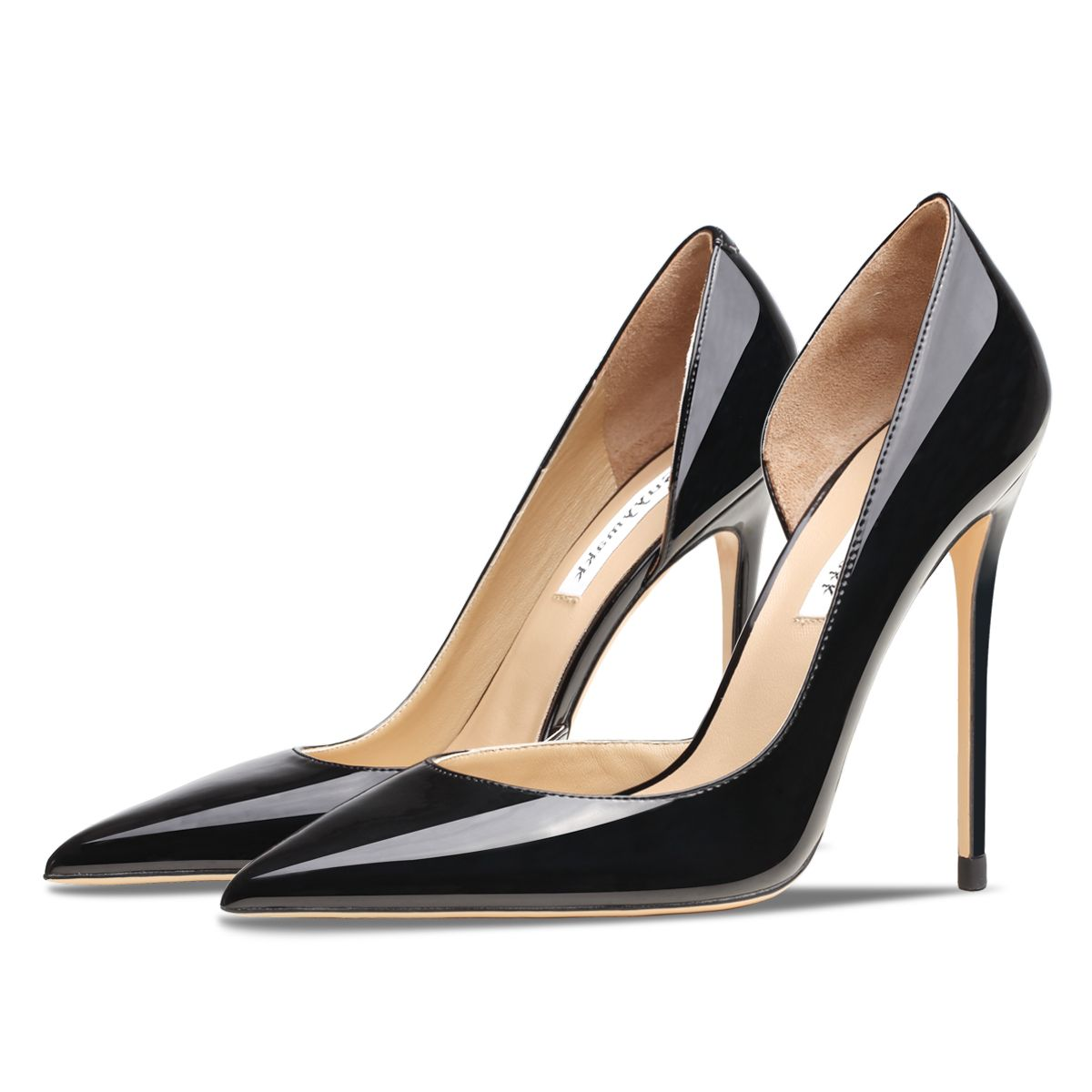 Spring 2021 Patent Leather Pointed Toe Women High Pumps Fashion Black White Wedding Shoes Sexy Stiletto Party Shoes 6/12cm Red