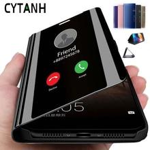 Coque Honor 10 Lite Light Smart Mirror housse de téléphone pour Huawei Honor 10i Honer Hnor 20 Pro 8x8s 8c 8a 9x support à rabat Coque