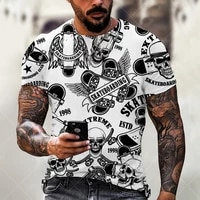 new oversized men t shirt mosaic print fashion t shirt men tops tees summer short sleeved casual loose tshirt for male clothing
