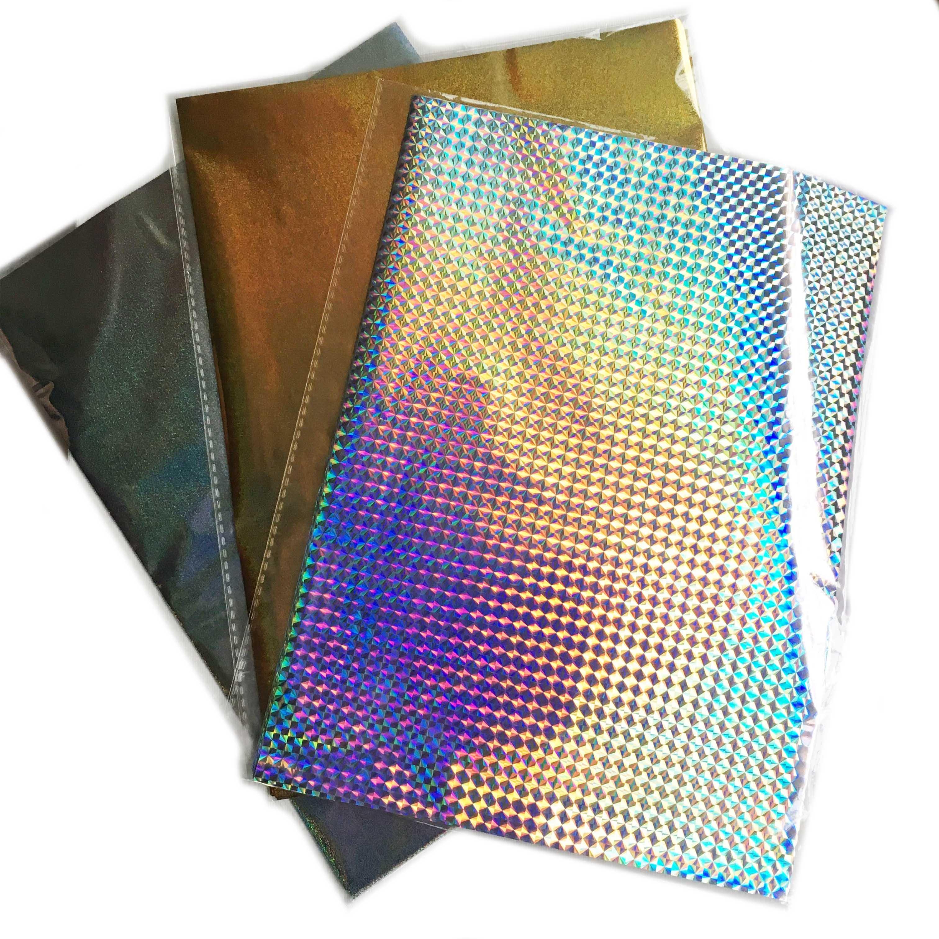 50 Uds. Nuevo 18 colores papel de impresión caliente papel laminado transferencia en Elegance láser impresora artesanal papel térmico 20x29cm A4