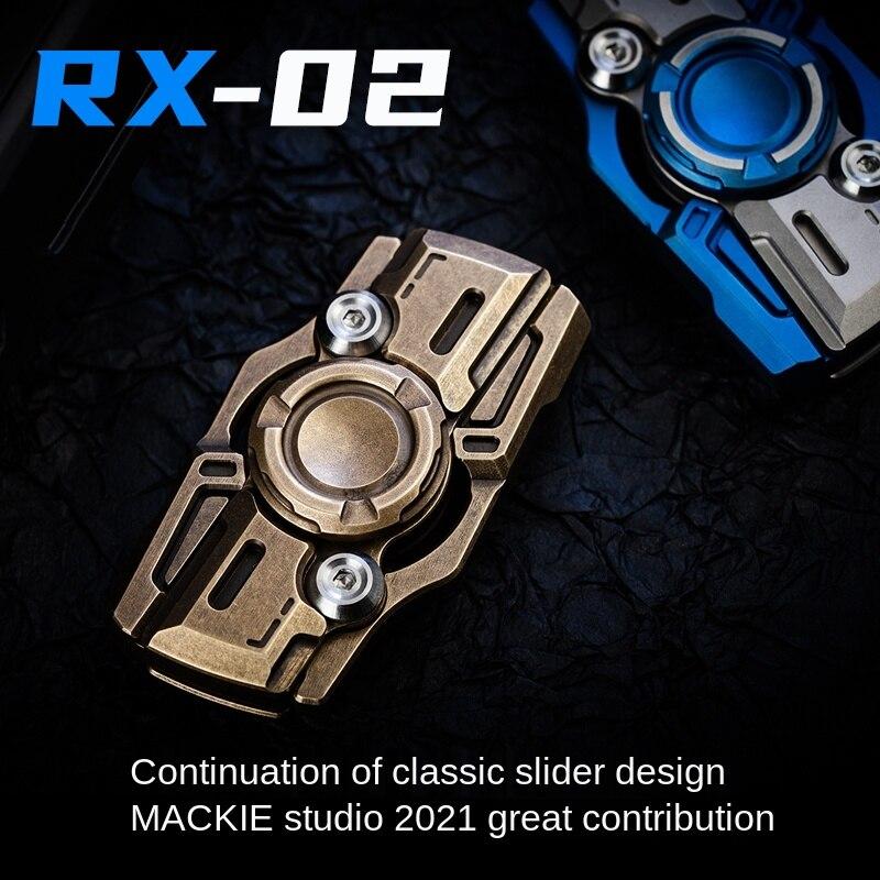 Rx02 Greedy 2 Generation Slider Fingertip Gyro Adult Pressure Relief Toy EDC High Speed Rotation enlarge