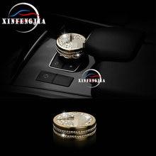 Voor Mercedes-Benz Ml Gl Glk Klasse W204 W212 W166 X166 X204 Goud Zilveren Crystal Stijl Multimedia knop Case Trim