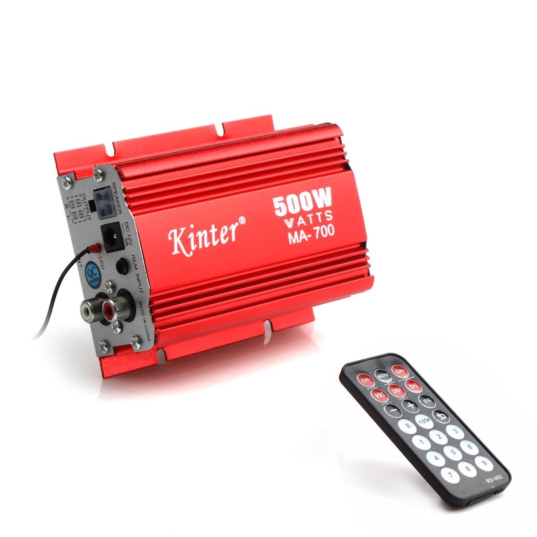 MA-700 500W Motorrad Auto Power Verstärker 2 Kanäle Audio AMP Verstärker Unterstützung USB MP3 FM Eingang mit fernbedienung