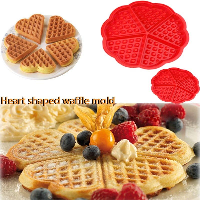 Baking Mould Diy Cake Silicone Mini Round Waffles Pan Cake Baking Mould Mold Waffle Tray