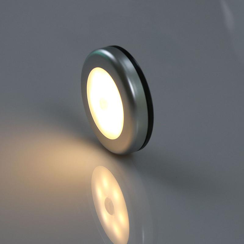 1pcs 6LED Night Light Motion Sensor Lamp Magnetic Wireless Detector Wall Lamps Auto On/Off Closet Hallway Cabinet Lights