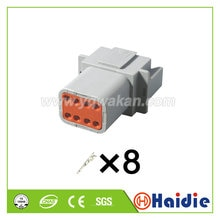 Free shipping 2sets 8pin auto waterproof housing plug DT04-8P electric wiring harness cable male con