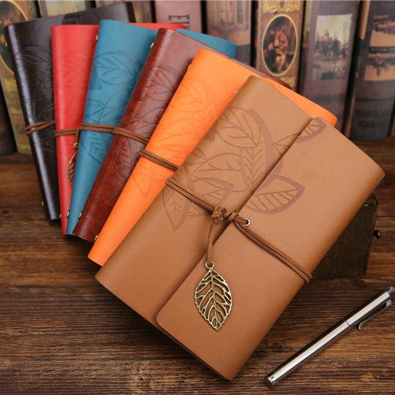 Rétro cahier Journal bloc-notes littérature PU cuir carnet de notes papeterie cadeaux voyageur Journal planificateurs bureau fournitures scolaires