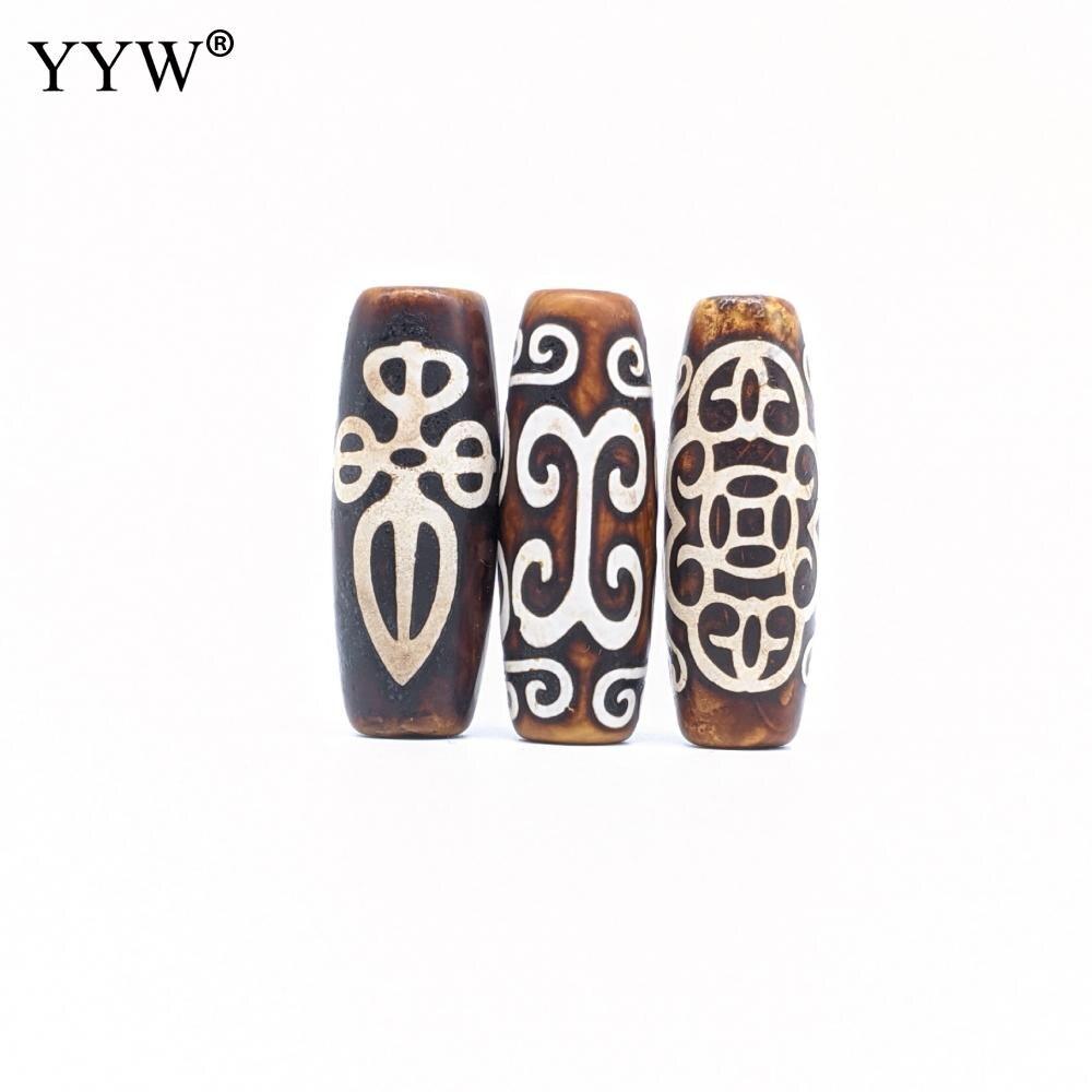 5 pces/10 pces vintage antigo ágata contas natural tibetano ágata onyx dzi contas para mulher ma jóias fazendo contas