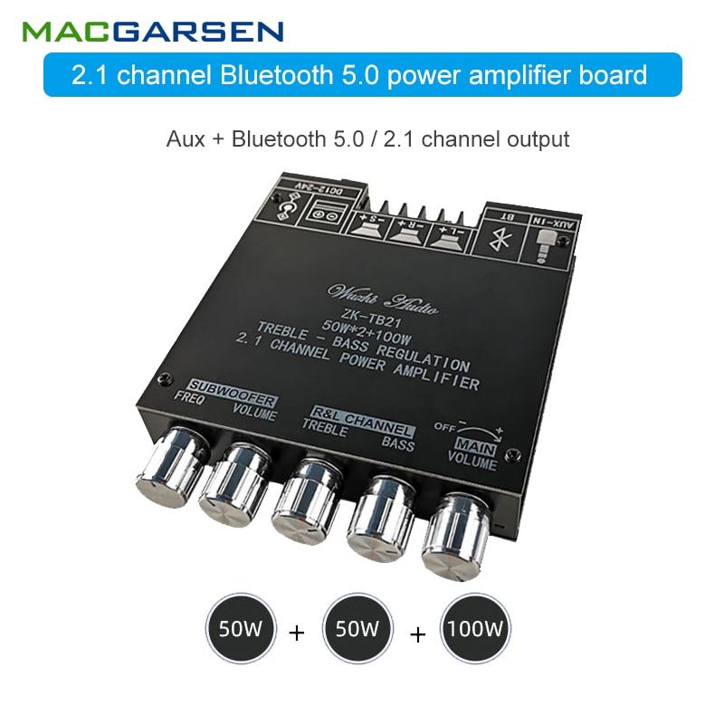 2,1 Bluetooth Amplificador De Audio Tpa3116D2 Modulo Amplificador De Potencia 50W *...