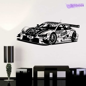 Sports Car Sticker Vehicle Racing Decal Classic Cars Posters Vinyl Wall Decals Home Decoration Decor Mural Luxury Car Sticker