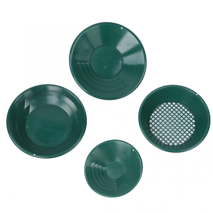 4 قطعة البلاستيك الأخضر التعدين الجاذبية فخ الذهب غسل عموم صينية عدة الألغام البحث كاشف المعادن detektor اكسسوارات