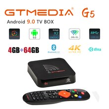 GTMEDIA G5 Smart TV Box Android 9.0 S905X2 4GB di RAM 64GB ROM supporto IPTV 4K WiFi Media lettore Netflix Youtube Set Top BOX