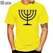 T-shirt avec symbole MENORAH pour homme, modèle hanoukka, hébreu, YIDDISH, religieux, judas
