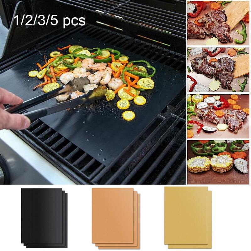 2020New 3 Farbe Ptfe Nicht-stick BBQ Grill Pad Grill Backen Pad Reusable Kochen Platte 40*33cm für Party Grill Matte Werkzeuge