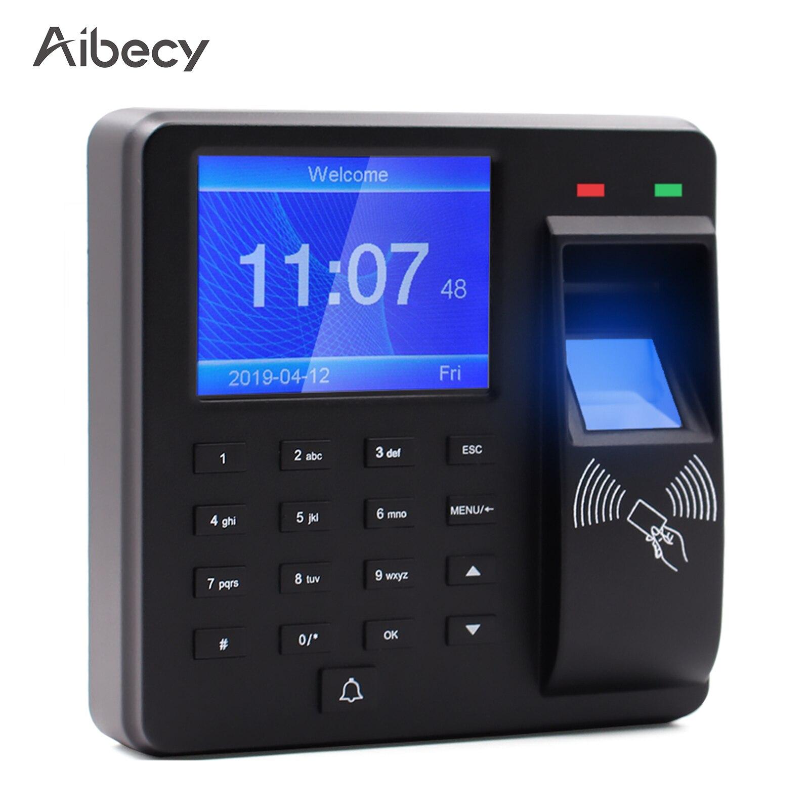 التحكم في الوصول آلة الحضور الوقت بصمة/كلمة المرور/بطاقة الهوية الاعتراف 2.4 بوصة شاشة الموظف التحقق في مسجل
