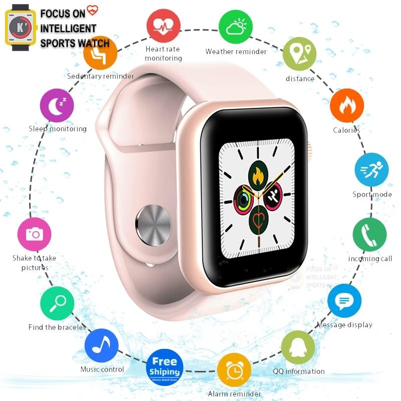 Apple Smart watch Men Women Blood Pressure Smartwatch Watch Waterproof Heart Rate Tracker Sport Clock Watch Smart ForAndroid IOS