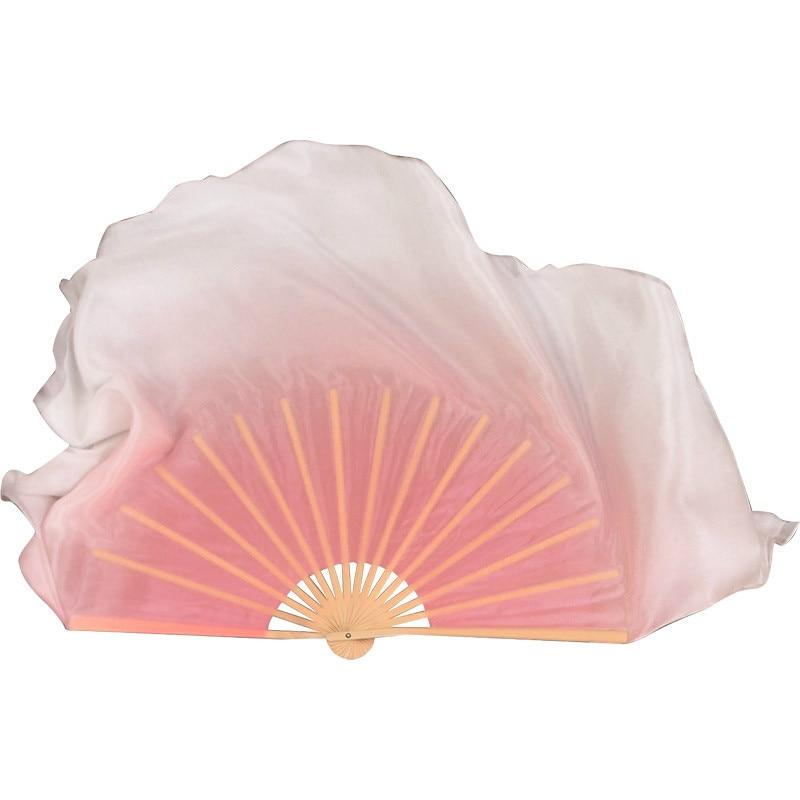 Abanico de seda Para baile clásico, Abanico especial plegable alargado de Color...