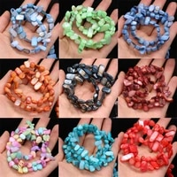 natural stone shell beads colorful dye gravel bead for jewelry making diy women bracelet necklace crafts