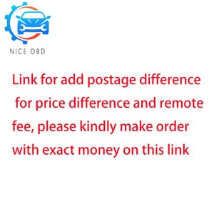 Link for add postage difference for price difference and remote fee, please kindly make order with exact money on this