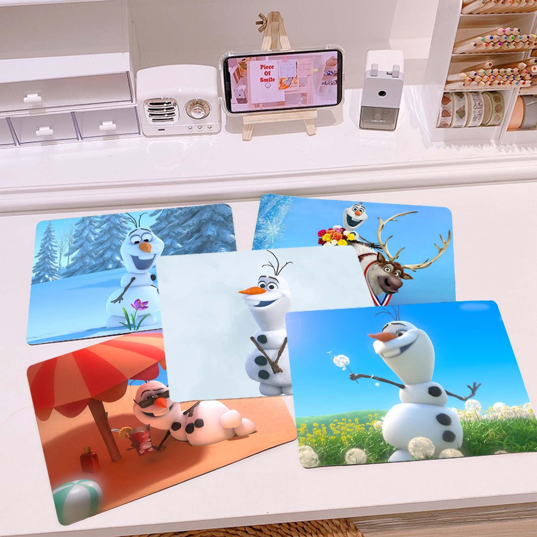 Новинка, силиконовый коврик для мыши из серии Disney Olaf «Холодное сердце», игровой Гладкий коврик для письма, настольные компьютеры, коврик для...